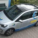 FAhrzeugbeschriftung Franken Solar VW Up
