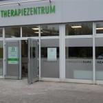 Glasdekor Beschriftung Therapiezentrum