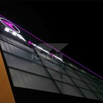 LED Leuchtkontur FAI Hangar 8 Nordseite