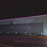 LED Leuchtkontur FAI Hangar 8 Südseite 1
