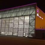 LED Leuchtkontur FAI Hangar 8 Südseite