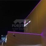 LED Leuchtkontur FAI Hangar 8 ostseite