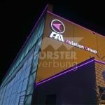 LED Leuchtkontur FAI Hangar 8 ostseite und südseite