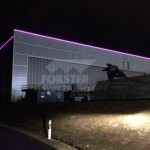 LED Leuchtkontur FAI Hangar 8 westseite