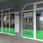 Versicherungsbüro Schaufensterbeklebung Stein