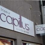alu dibond aufgesetzte Buchstaben capillus